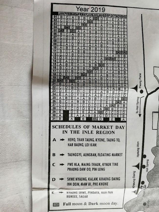 calendario mercados lago inle