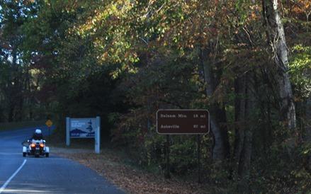 entrance to Blue Ridge Parkway