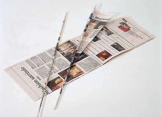 folhas de jornal