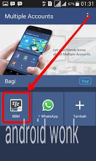 dua akun bbm dalam satu ponsel