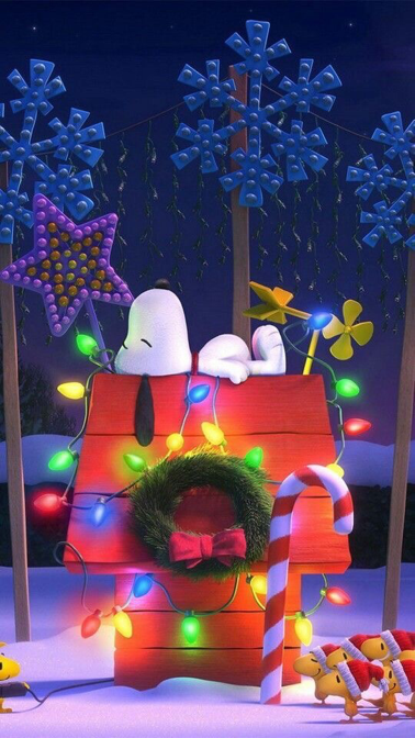 Iphone And Android Wallpapers Snoopy Christmas Wallpaper For Iphone