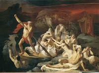 Στην Ελληνική μυθολογία, ο Χάρων ήταν ο πορθμέας του Άδη, οι νεκροί έπρεπε οπωσδήποτε να πληρώσουν στον Χάροντα έναν οβολό για τα ναύλα.