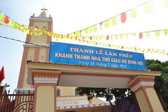 Làm phép và khánh thành nhà thờ giáo họ Bình Nội