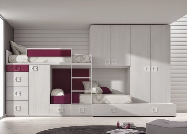 Dormitorios juveniles camas tren - Literas tipo tren medidas ...