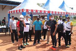 Meninjau Proses Pembangunan Mako Polres Kubu Raya