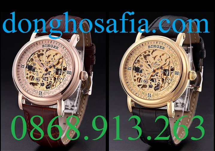 Đồng hồ nam cơ Binger BG002