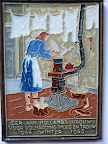 Tile commemorating the dutch housewife and here role during the hunger winter of 1944 / 1945