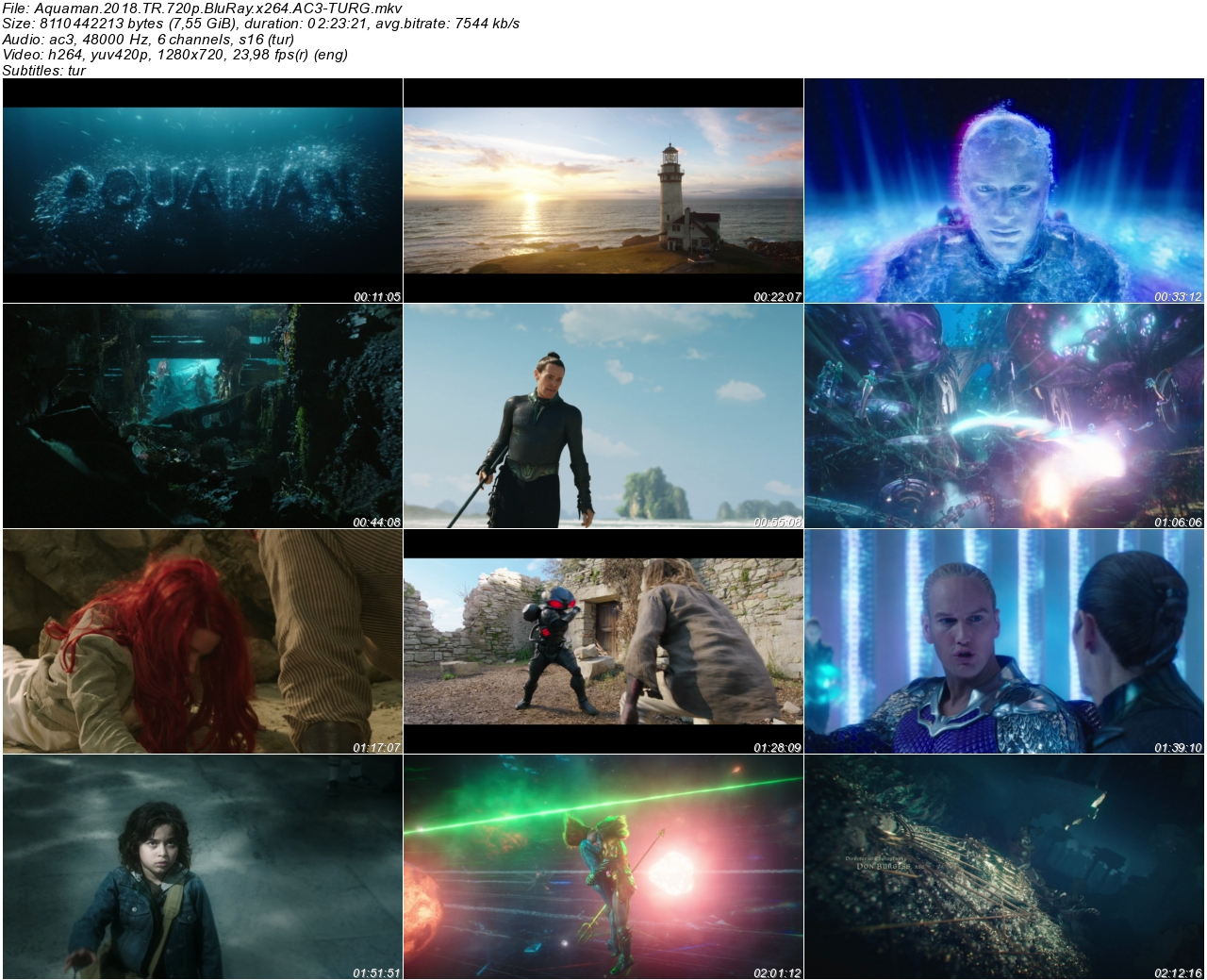 Aquaman 2018 1080p 720p 480p Türkçe Dublaj Tek Link Indir