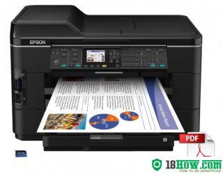 How to reset flashing lights for Epson WorkForce WF-7012 printer