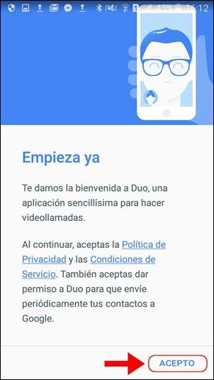 Abrir mi cuenta Google Duo - 558