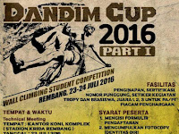 DANDIM CUP part I Wall Climbing Students Conpetition 2016 Rembang