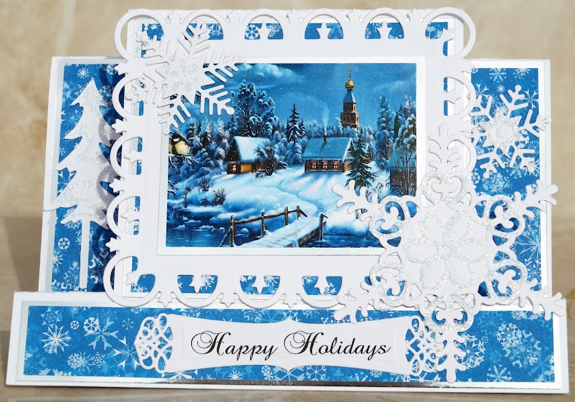 Winter Village Card