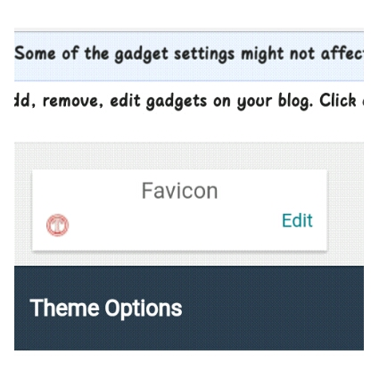 How To remove the default blogger favicon and how to upload yours. 2