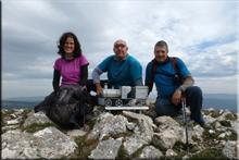 Valdelamediana mendiaren gailurra 1.215 m. --  2015eko urriaren 17an