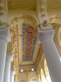 Thirumalai Nayakkar Palace -Roof art work