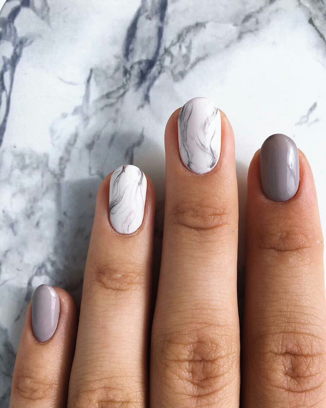 20 Different Marble Nail Art Designs With Water Fashion 2d