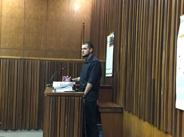 Pics of Le Roux Steyn who took the stand in the case of the Krugersdorp murders on Wednesday.