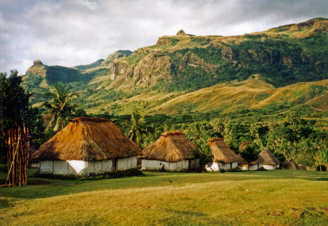 Huts in the village of Navala in the Nausori Highlands