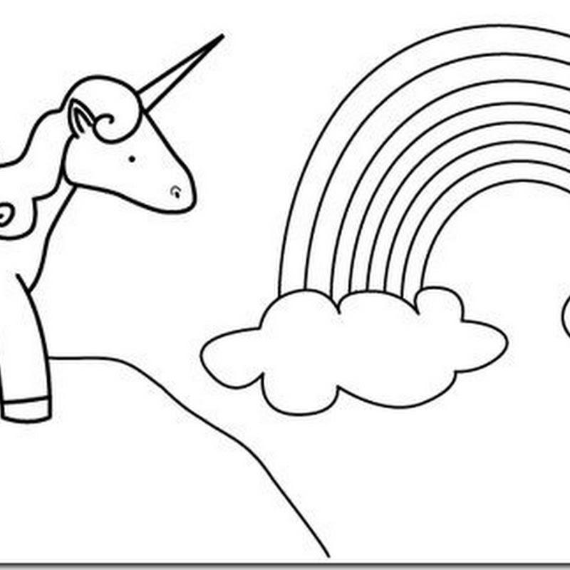 dibujo unicornios para colorear
