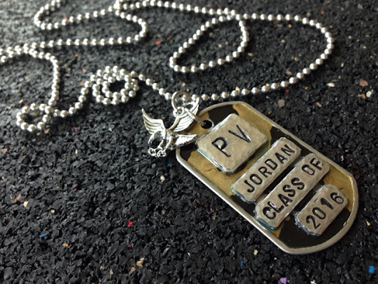 Graduation Gift Idea - Customized Dog Tag Pendant