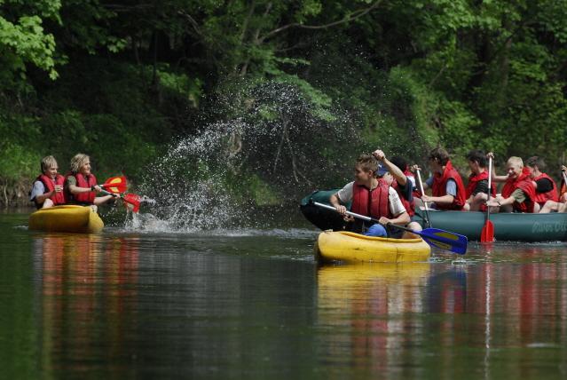 kanoën op de Jizera