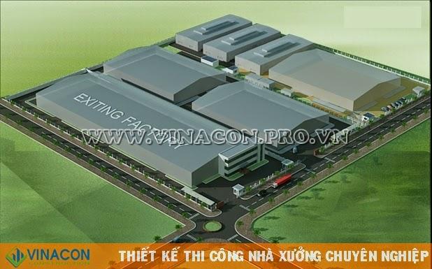 Thiết kế nhà xưởng Nhà máy Hanam Vina