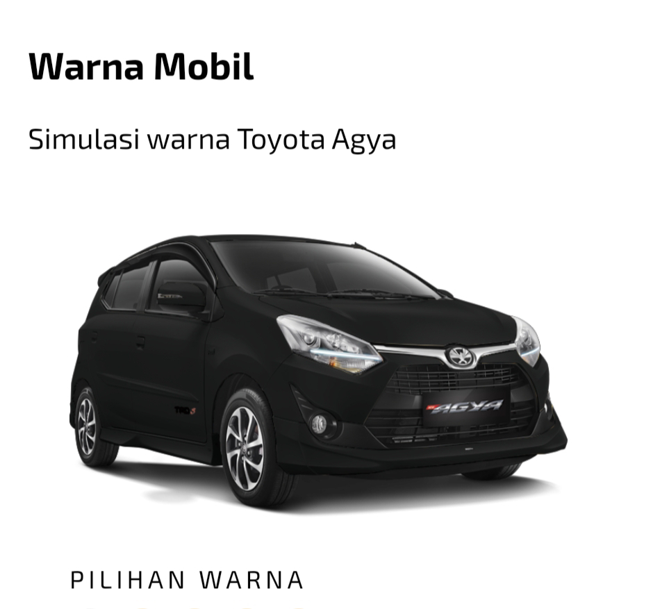 Toyota All New Agya hitam