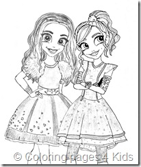 Mal & Evie coloring pages| Descendants coloring pages