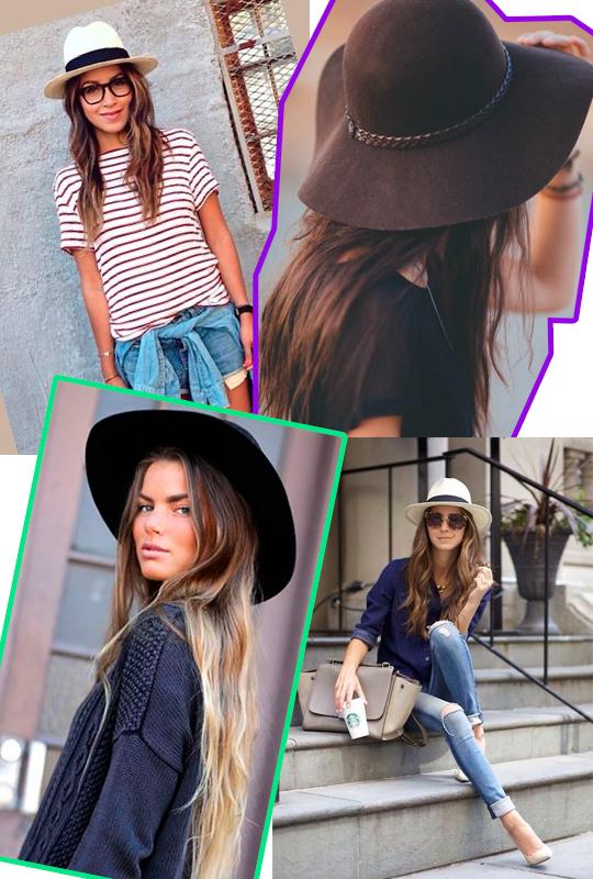 ... dos chapéus. É muito fácil de combinar e todas as mulheres podem usar.  São diversos modelos para você escolher aquele que mais combina com o seu  estilo. cdd2c024d6f