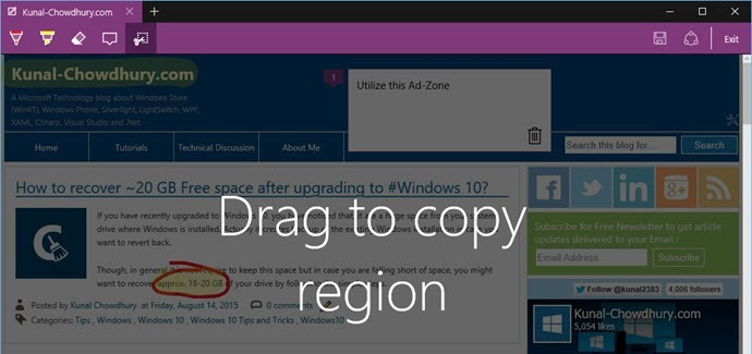 9. Drag to copy a region using the clip tool (www.kunal-chowdhury.com)