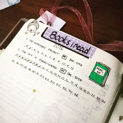 Reading log bullet journal
