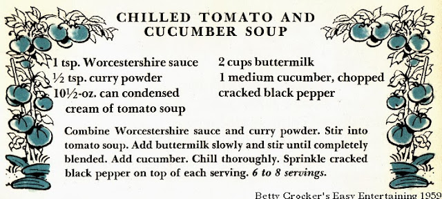 Chilled Tomato & Cucumber Soup | Betty Crocker's Easy Entertaining 1959