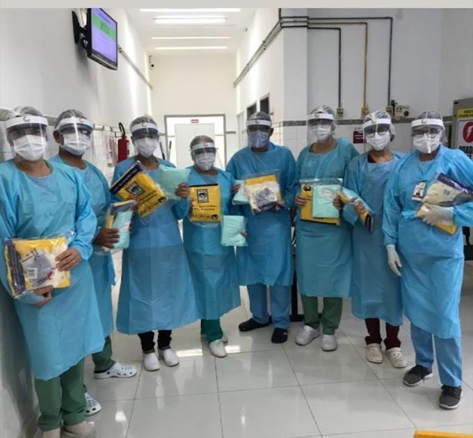 Profissionais de Saúde do Hospital Regional recebem equipamentos e kits de segurança
