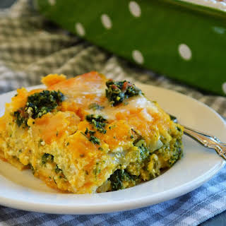 Butternut Squash Lasagna with Spinach Pumpkin Seed Pesto.