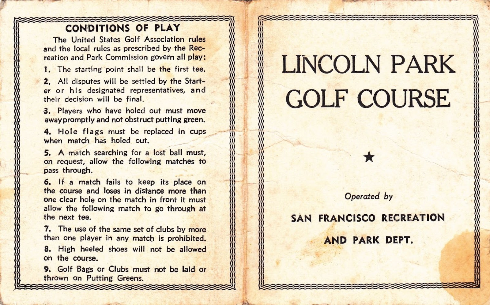 The History Of Lincoln Park Lincolnparkgolfclub
