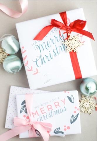 free Christmas gift wrap