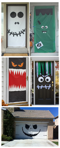 Easy Halloween Door Decoration Ideas - ThatNewMommy