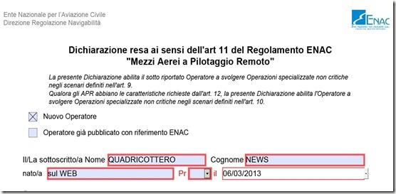 ENAC nuova procedura per diventare operatore droni