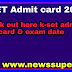 KSET Admit Card 2020 || Check Out Karnataka State Eligibility Test Exam Dates & Admit Card