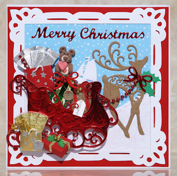 Sleigh and Reindeer Card