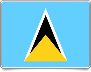 Saint Lucian framed flag icons with box shadow