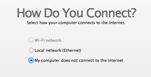 Skip pengaturan koneksi dan jaringan