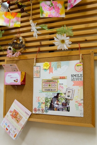 Jカラー西八王子さんにスクラップブッキング作品展示中!