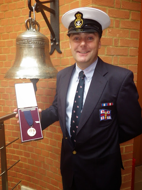 Glen Mallen with his Thomas Gray Memorial Trust Silver Medal in London - 14 October 2014
