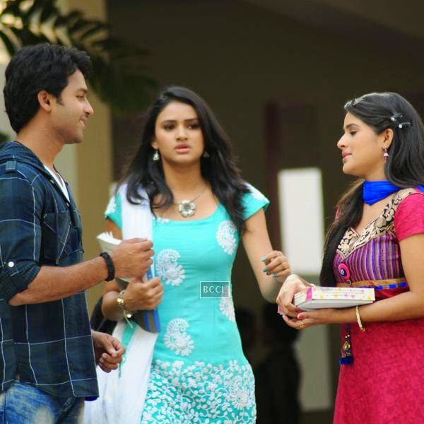 Ajay and Kousalya in a still from Telugu movie Gallo Telinattunde. (Pic: Viral Bhayani)<br />