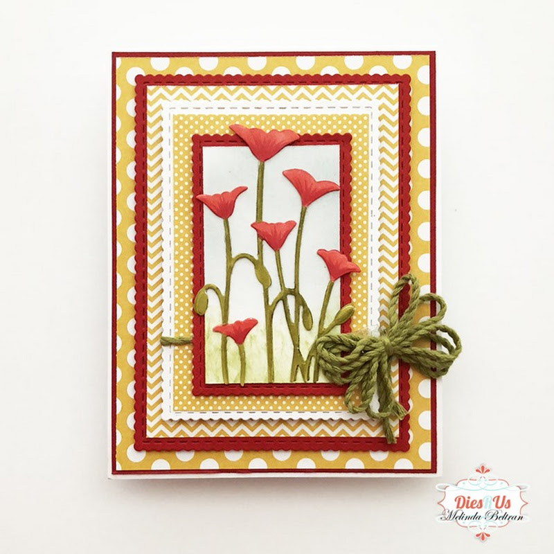 Poppies Die Card by Melinda