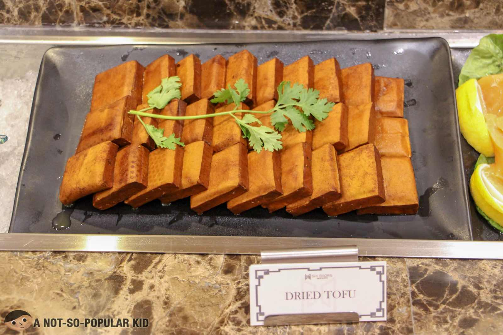 Dried Tofu in Six Doors Restaurant