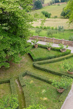 Photo: View of the formal garden from the upstair balcony