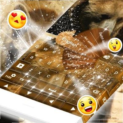 GO Keyboard Медведь темы
