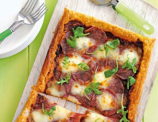 Puff-pizza tart